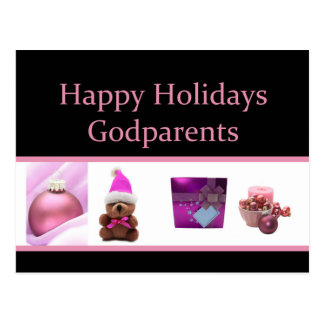 godparents  Merry Christmas card Post Cards