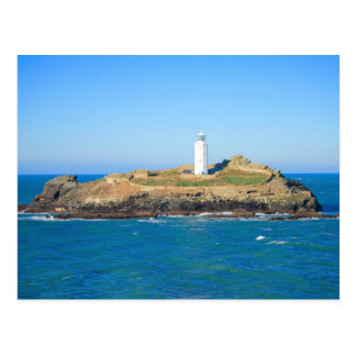 Godrevy Lighthouse in Cornwall Post Card