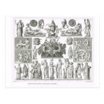 Gods and mythical creatures postcard