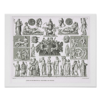 Gods and mythical creatures poster