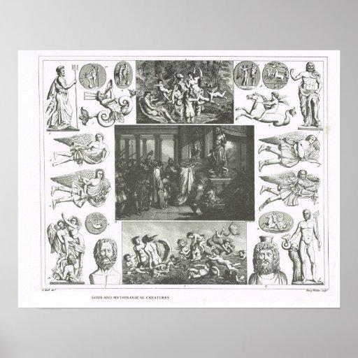 Gods and mythological creatures print