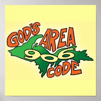 God's Area Code: 906 Print