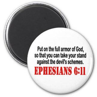 God's Armor 2 Inch Round Magnet
