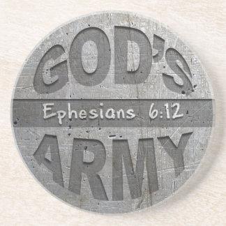 God's Army - Ephesians 6:12 Christian Bible Verse Coasters