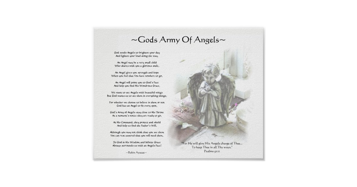 GODS ARMY OF ANGELS POSTER | Zazzle com