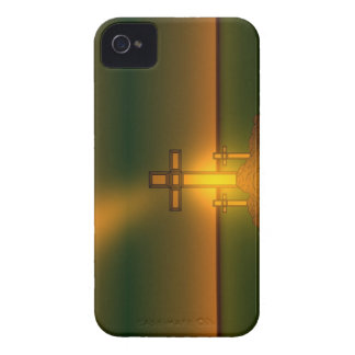 God's Aura Light over the Cross of Christ BlkBerry Case-Mate iPhone 4 Case