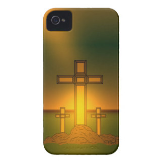 God's Aura Light over the Cross of Christ BlkBerry iPhone 4 Case