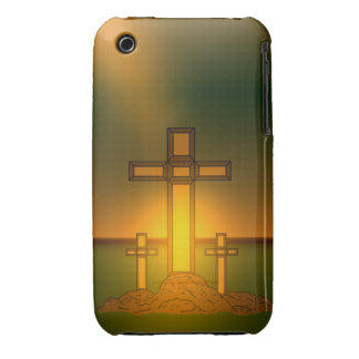 God's Aura Light over the Cross of Christ iPhone Case-Mate iPhone 3 Case