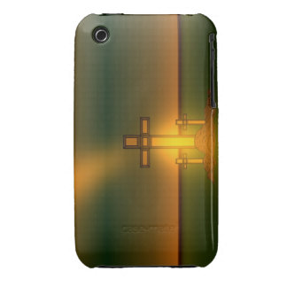 God's Aura Light over the Cross of Christ iPhone iPhone 3 Case-Mate Case