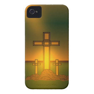 God's Aura Light over the Cross of Christ iPhone iPhone 4 Case-Mate Case