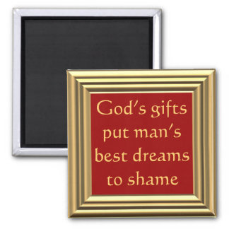 God's blessings are beyond our dreams 2 inch square magnet