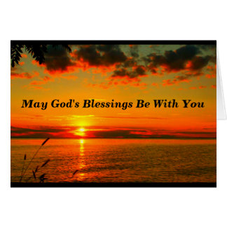 God's Blessings Be With You Baptism Card