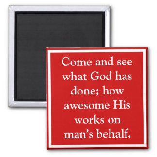 God's blessings to man are awesome magnet