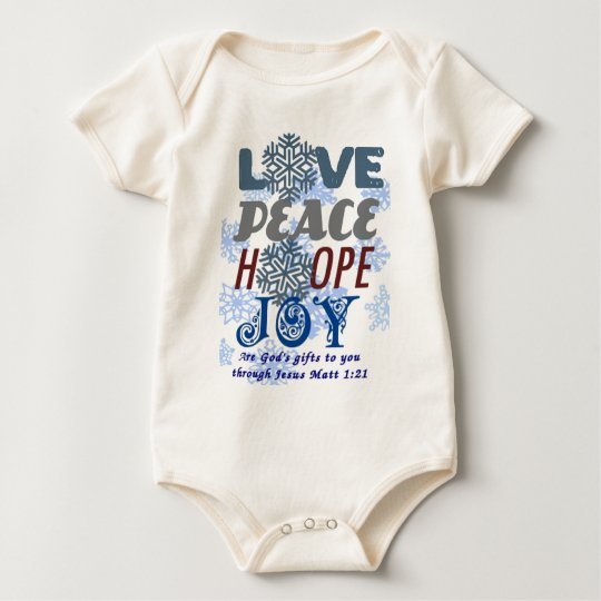 GODS CHRISTMAS GIFTS A.png Baby Bodysuit