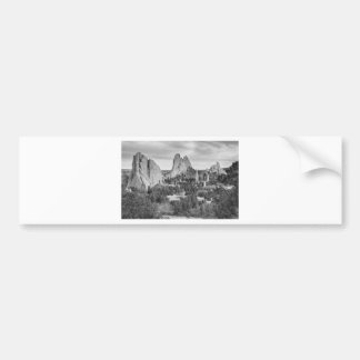 Gods Colorado Garden In Black and White Bumper Sticker