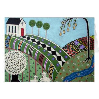 God's Country Folk Art Card