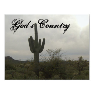 Gods country 4.25x5.5 paper invitation card