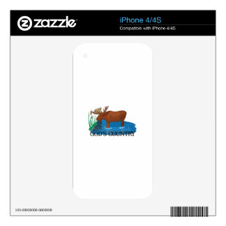 Gods Country iPhone 4S Skin