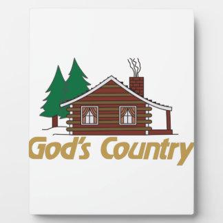 Gods Country Plaque