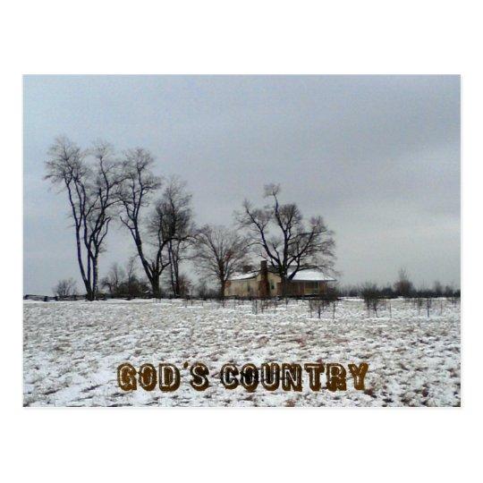 God's Country Postcard