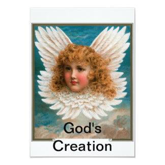 God's Creation (Angels) 3.5x5 Paper Invitation Card