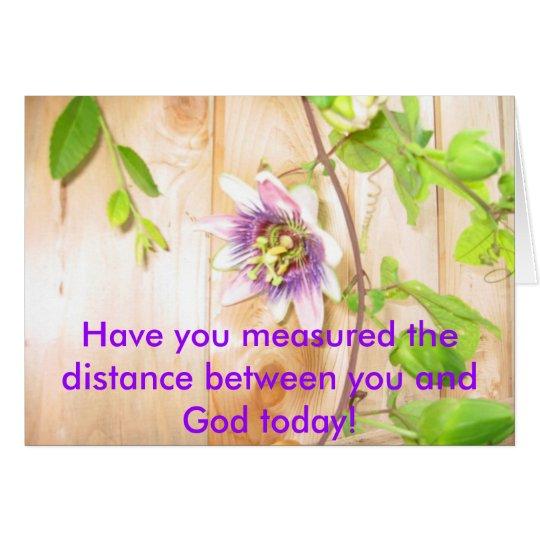 God's Distance H Card