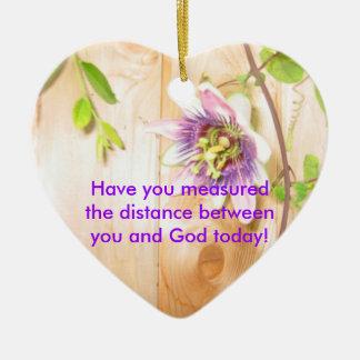 God's Distance Heart Ceramic Ornament