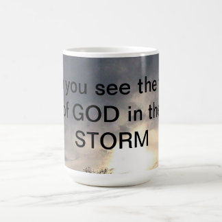 God's Face In The Storm Coffee Mug