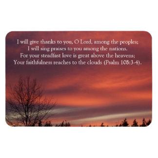 God's Faithfulness Sunset Photo Rectangular Photo Magnet