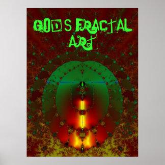 God's Fractal Art Poster