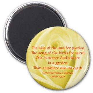 God's Garden Poem - magnet magnet