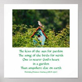 God's Garden (poem) - poster / print print