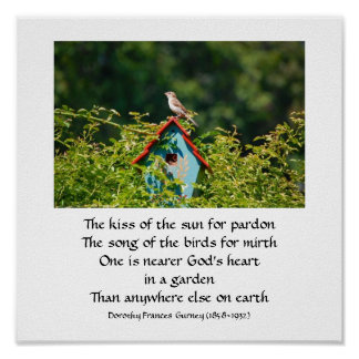 God's Garden (poem) - poster / print