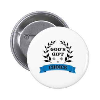 gods gift branch olive pinback button