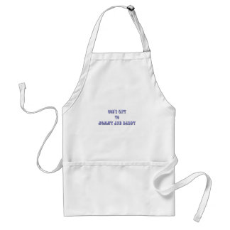 Gods Gift to Mommy and Daddy Blue Adult Apron