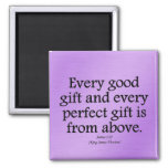 God's gifts are good and perfect James 1:17 Magnet