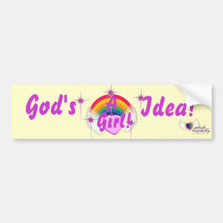 God's Girl-Customize Bumper Sticker