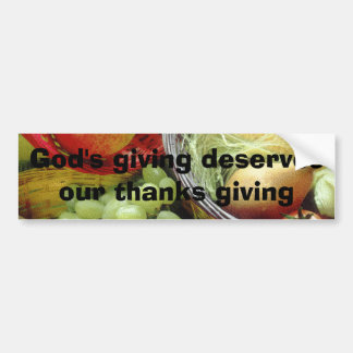God's Giving Bumper Sticker
