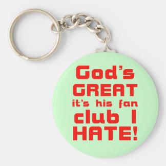 Gods Great2 Dark Keychain