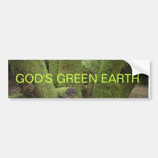 GOD'S GREEN EARTH BUMPER STICKER