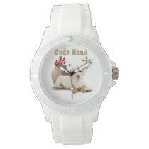 Gods hand puppy wrist watches