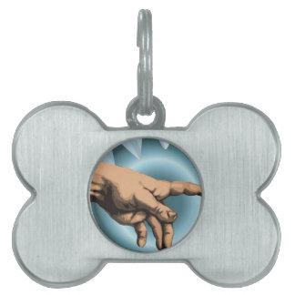 God's hand-vector design pet ID tags