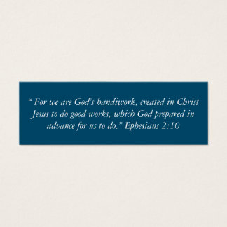 """""""God's Handiwork"""" Little Notes Mini Business Card"""