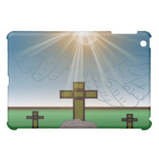 God's Hand's over the Cross of Christ iPad Case