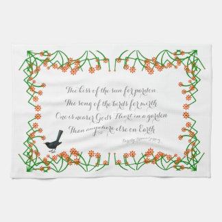 Gods Heart Garden Quote Hand Towels