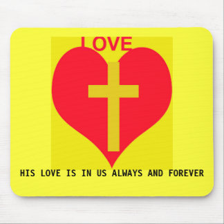 GODS HEART MOUSE PAD