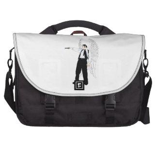 God's Hitman Angel With a Pistol Computer Bag