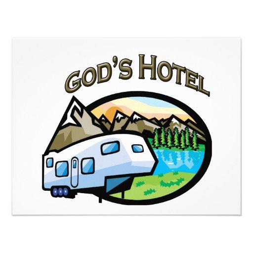 Gods Hotel Personalized Invite