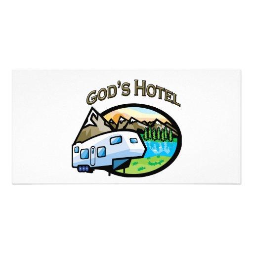 Gods Hotel Photo Card Template