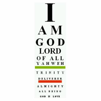 God's I Chart Ornament